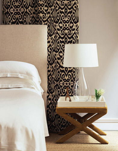 ikat fabric bedroom
