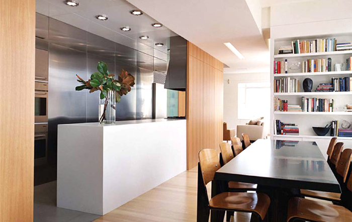 Kitchen and dining separator nyc interior design