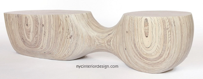 Natural Wood Bench Seating